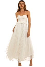 Spell Zoe Tulle Gown strapless