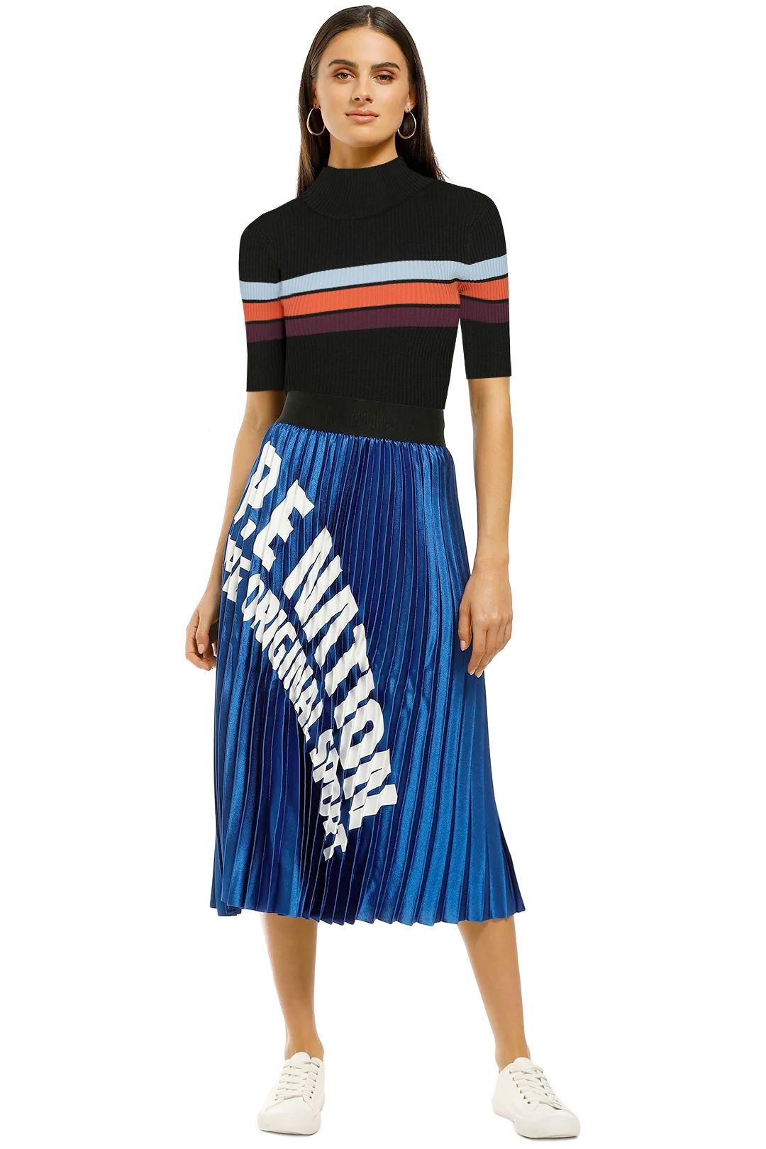 Bande-Studio-Keystone-Rib-Knit-Tee-Black-Stripe-Front