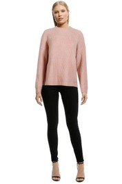 Staple-The-Label-Oversize-Crew-Jumper-Blush-Front