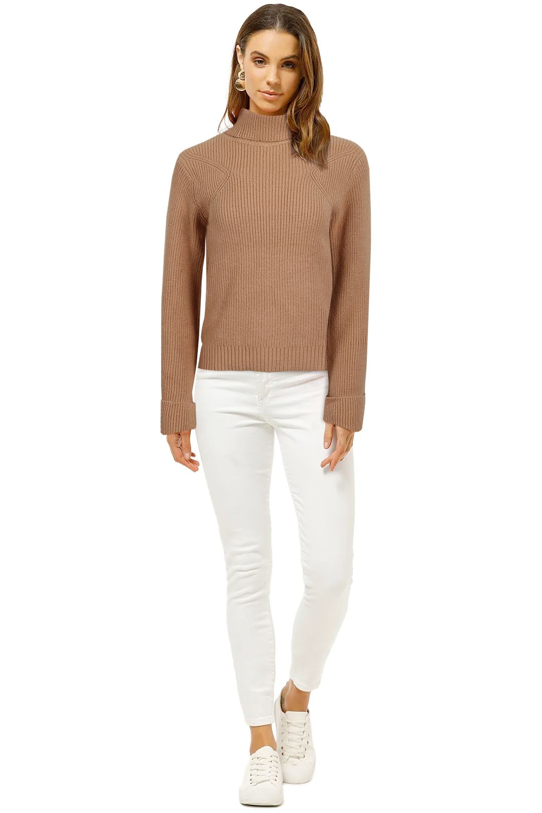 Staple-The-Label-Ribbed-Roll-Neck-Fawn-Front