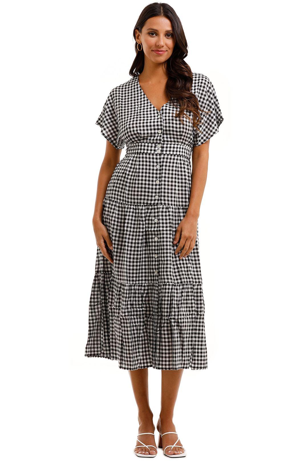 Staple The Label Annika Tiered Midi Dress