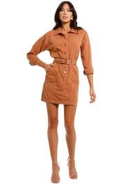 Staple The Label Arcadia Mini Dress Terracotta