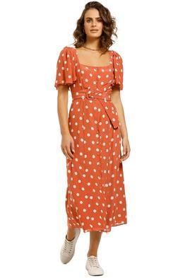 Steele-Dani-Dress-Orange-Polkadot-Front