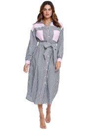Steele Margaux Shirt Dress stripe