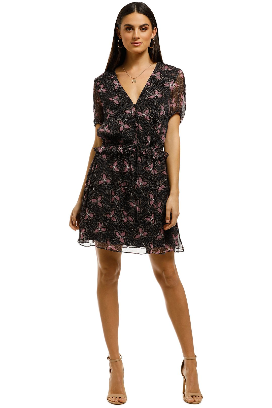 Stevie-May-Admire-Her-Mini-Dress-Purple-Floral-Black-Front