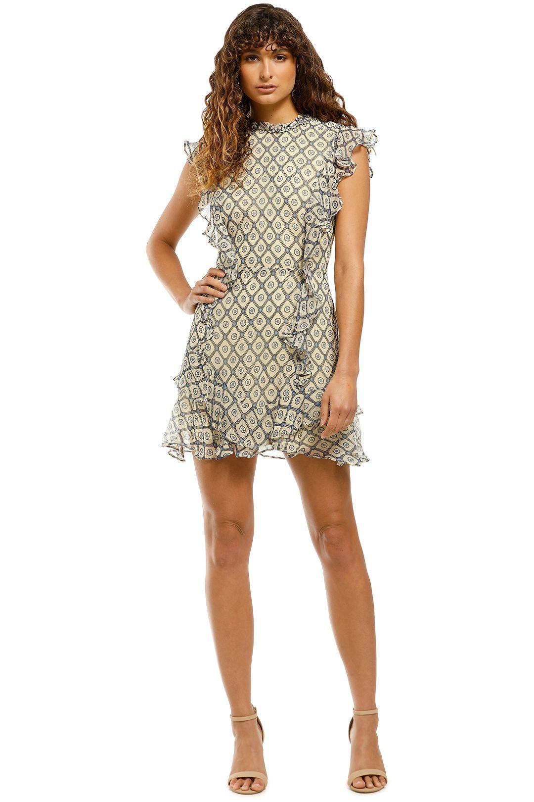 Stevie-May-Beaming-LS-Mini-Dress-Sienna-Print-Front