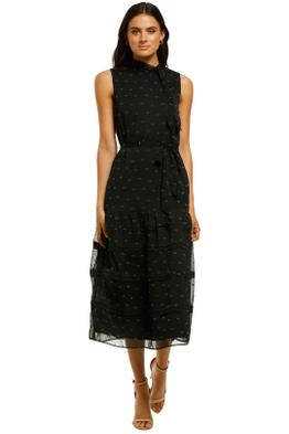 Stevie-May-Blackbird-Midi-Dress-Black-Flocking-Front