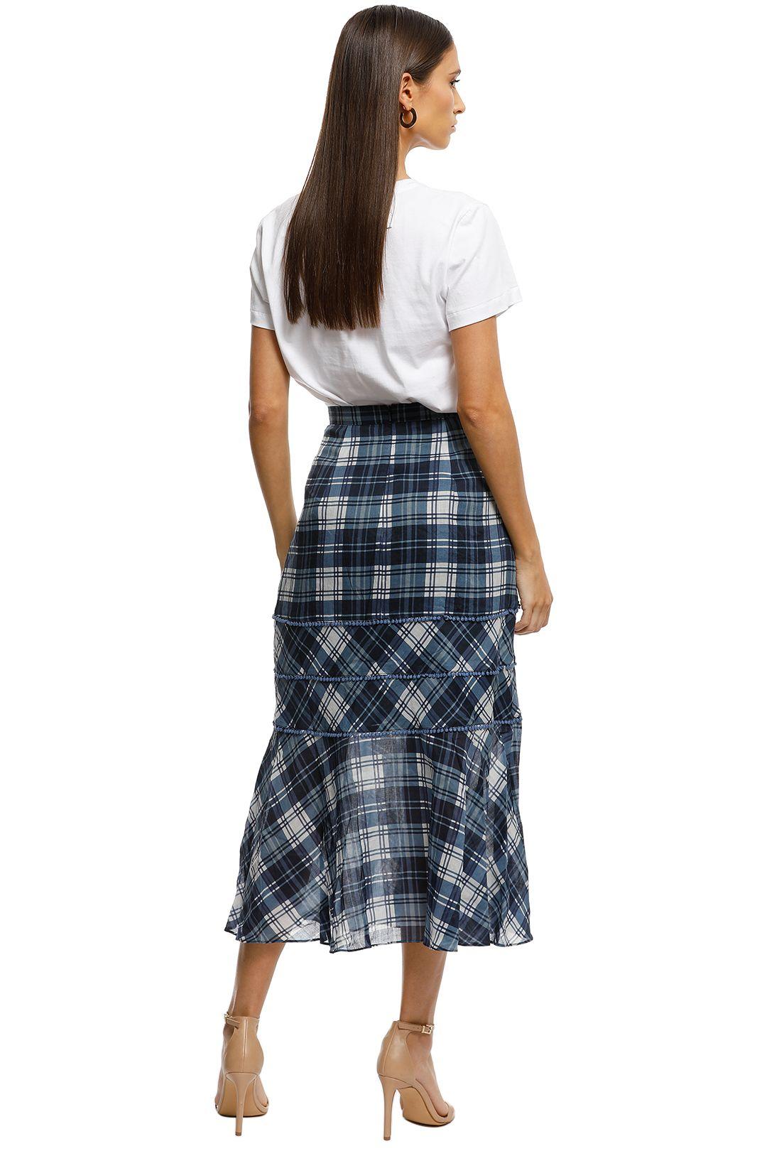 Stevie-May-Devon-Midi-Skirt-Navy-Plaid-Back