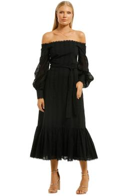 Stevie-May-Good-Times-Midi-Dress-Black-Front