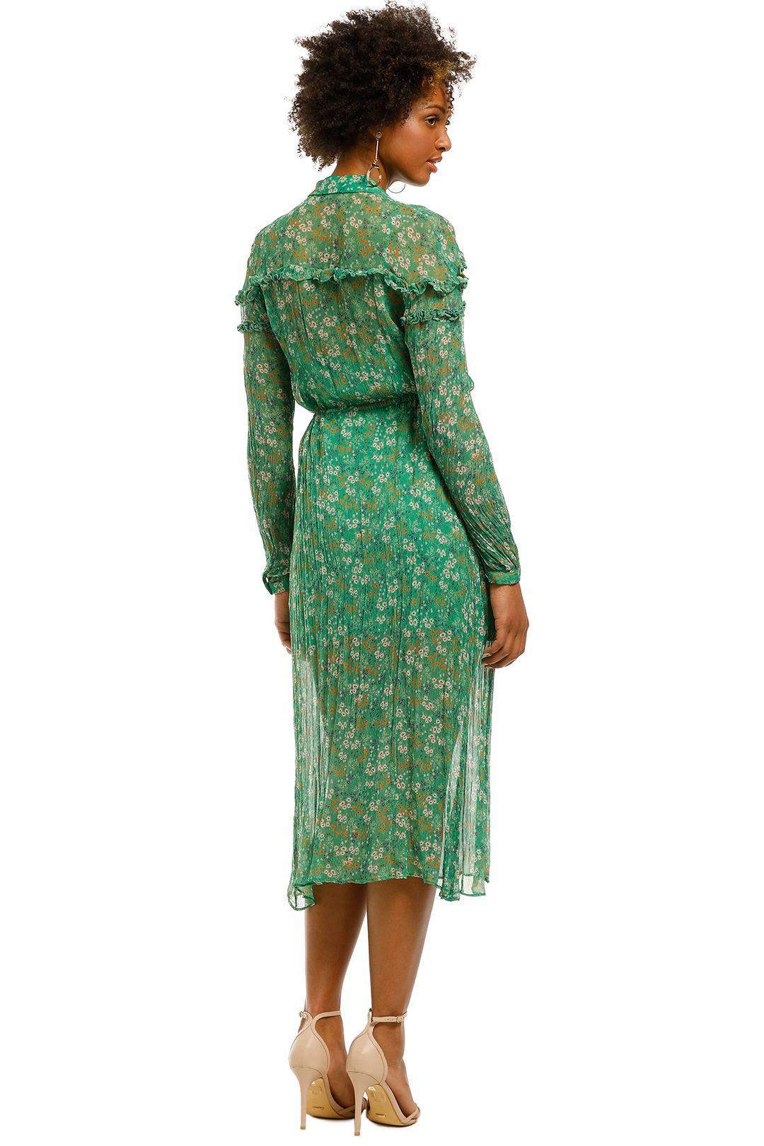 Stevie-May-Jade Valentine-LS-Maxi-Dress-Moss-Floral-Back