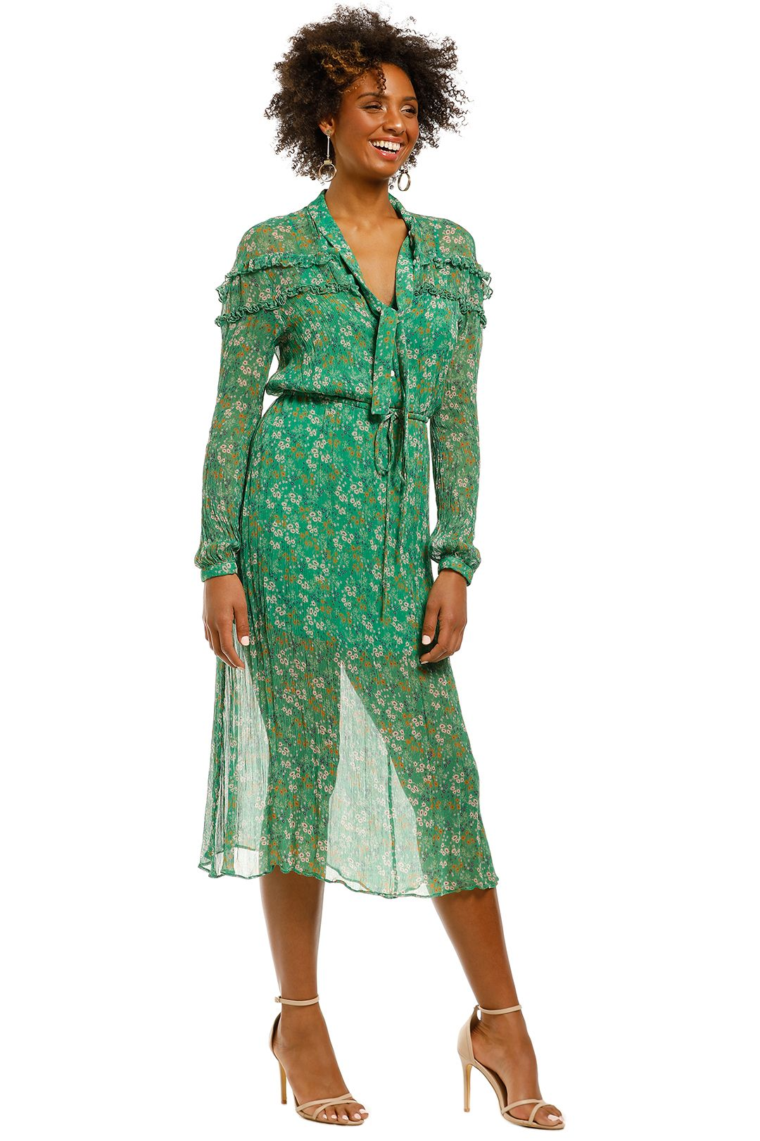 Stevie-May-Jade Valentine-LS-Maxi-Dress-Moss-Floral-Side