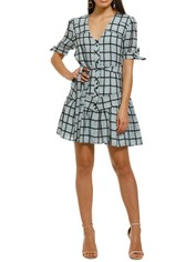 Stevie-May-Manners-Mini-Dress-Aqua-Large-Check-Front