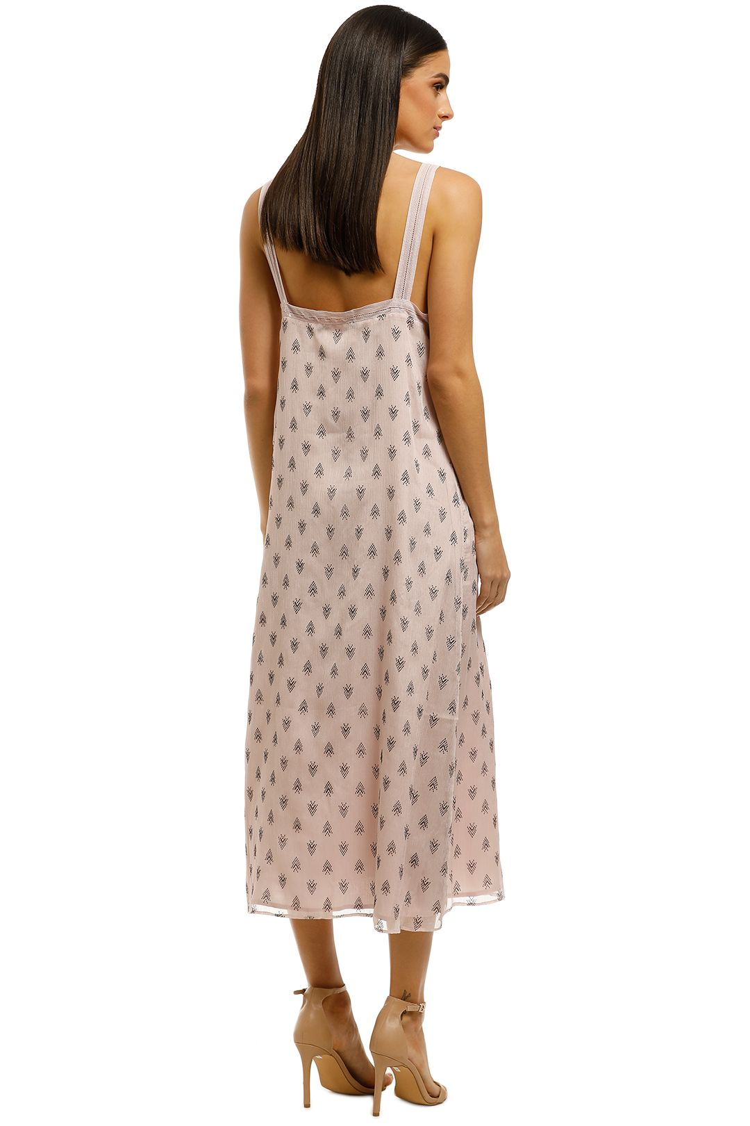 Stevie-May-On-Hold-Midi-Dress-Pink-Back