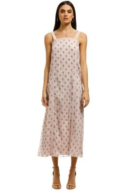 Stevie-May-On-Hold-Midi-Dress-Pink-Front