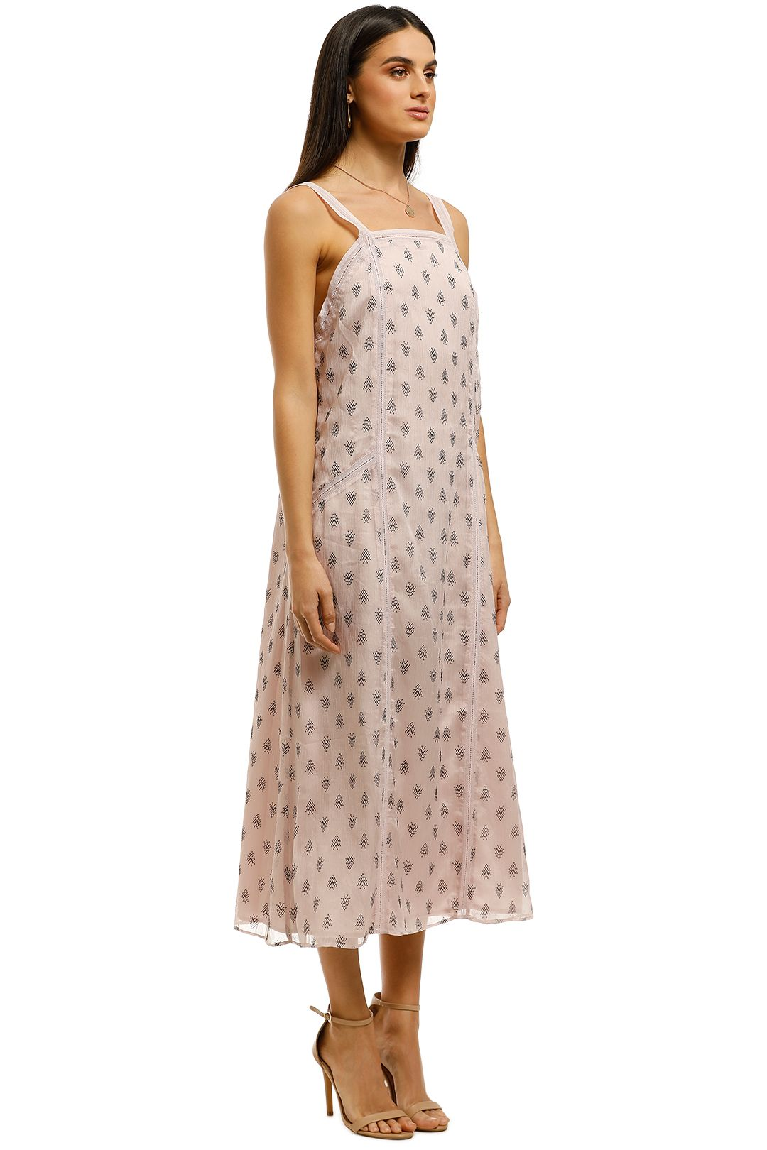 Stevie-May-On-Hold-Midi-Dress-Pink-Side