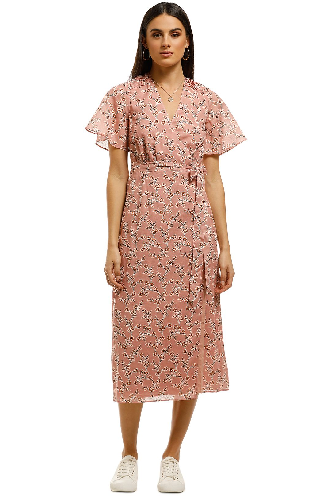 Stevie-May-Rosie-Midi-Dress-Pink-Front