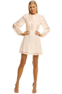 Stevie-May-Sunday-Morning-LS-Mini-Dress-Peach-Front