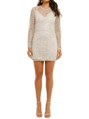 Stevie May-Concord-LS Mini-Dress-Silver-Front