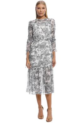 Stevie May - Cinema Midi Dress - Print - Front