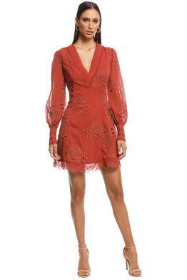 Stevie May - Gracia Mini Dress - Brown - Front