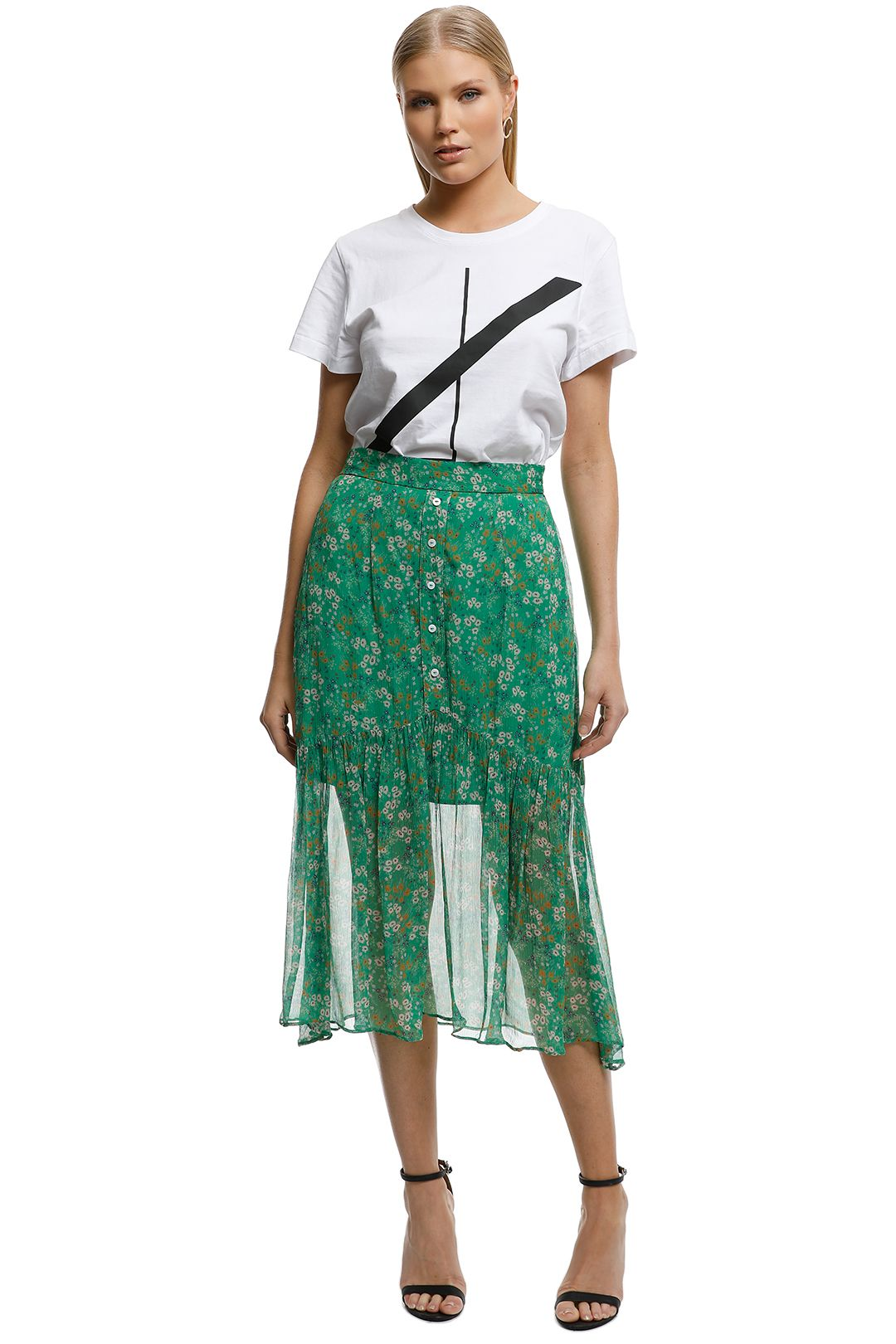 Stevie May - Jade Valentine Skirt - Green - Front