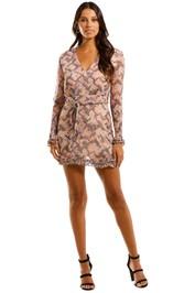 Stevie May Revolution Mini Dress Geometric Print