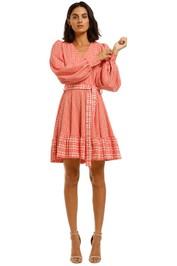Stine-Goya-Farrow-Dress-Plaid-Red-Front
