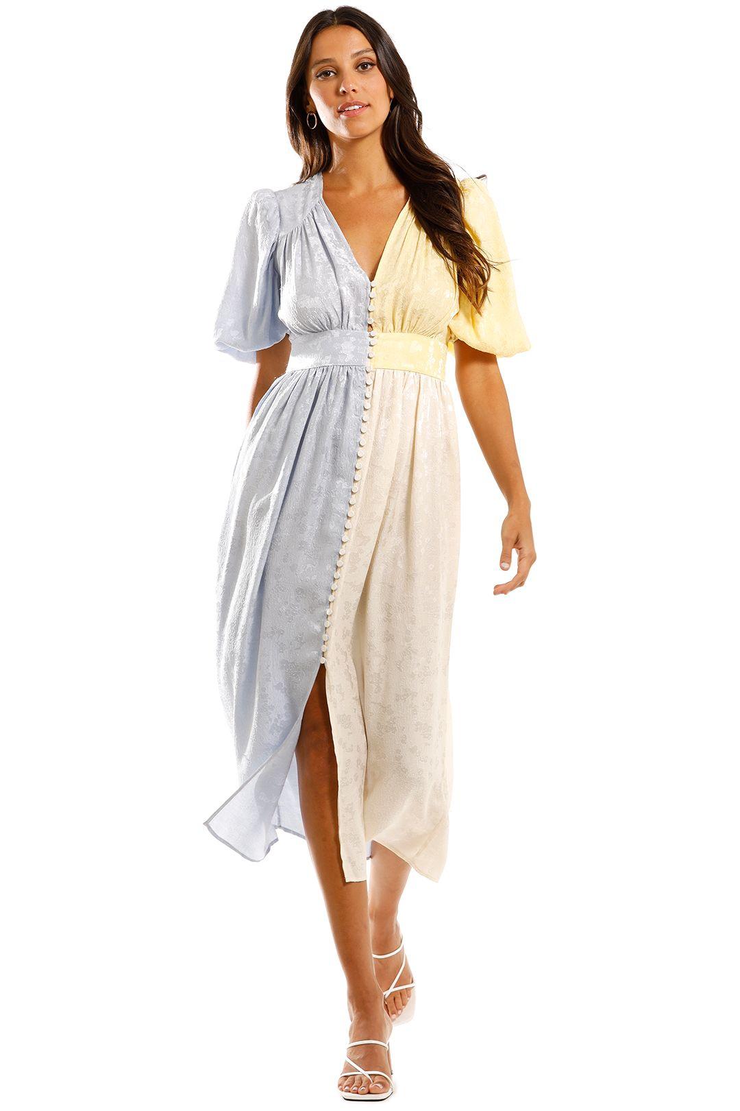 Stine Goya Isaia Short Sleeve Dress Midi Colour Block