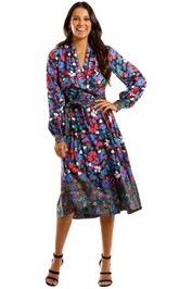 Stine Goya Wildflowers Floral Print Wrap Dress