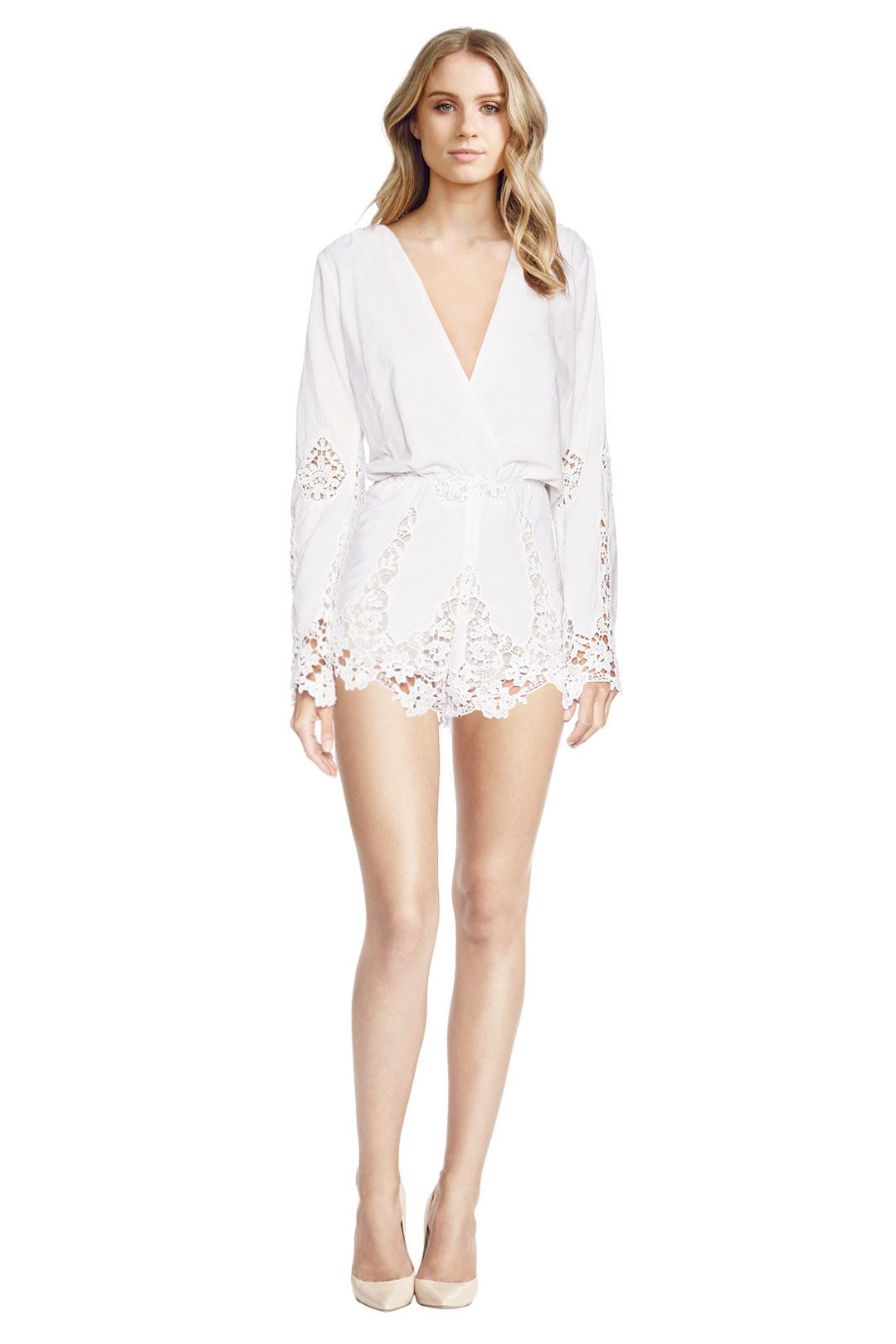 Stone Cold Fox - Te Amo White Playsuit - White - Front