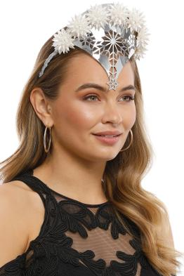 Studio Aniss - Anastasia Fascinator - Silver - Side Model