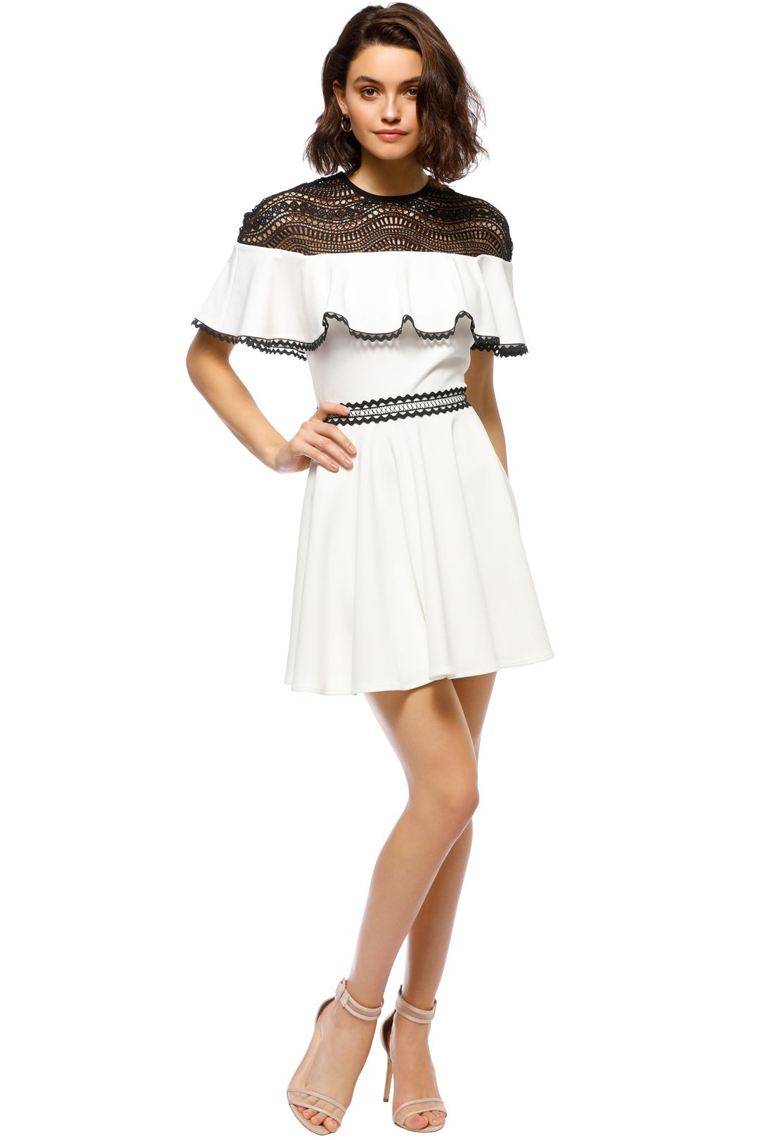 Stylestalker - Dahlia Circle Dress - White Black - Front