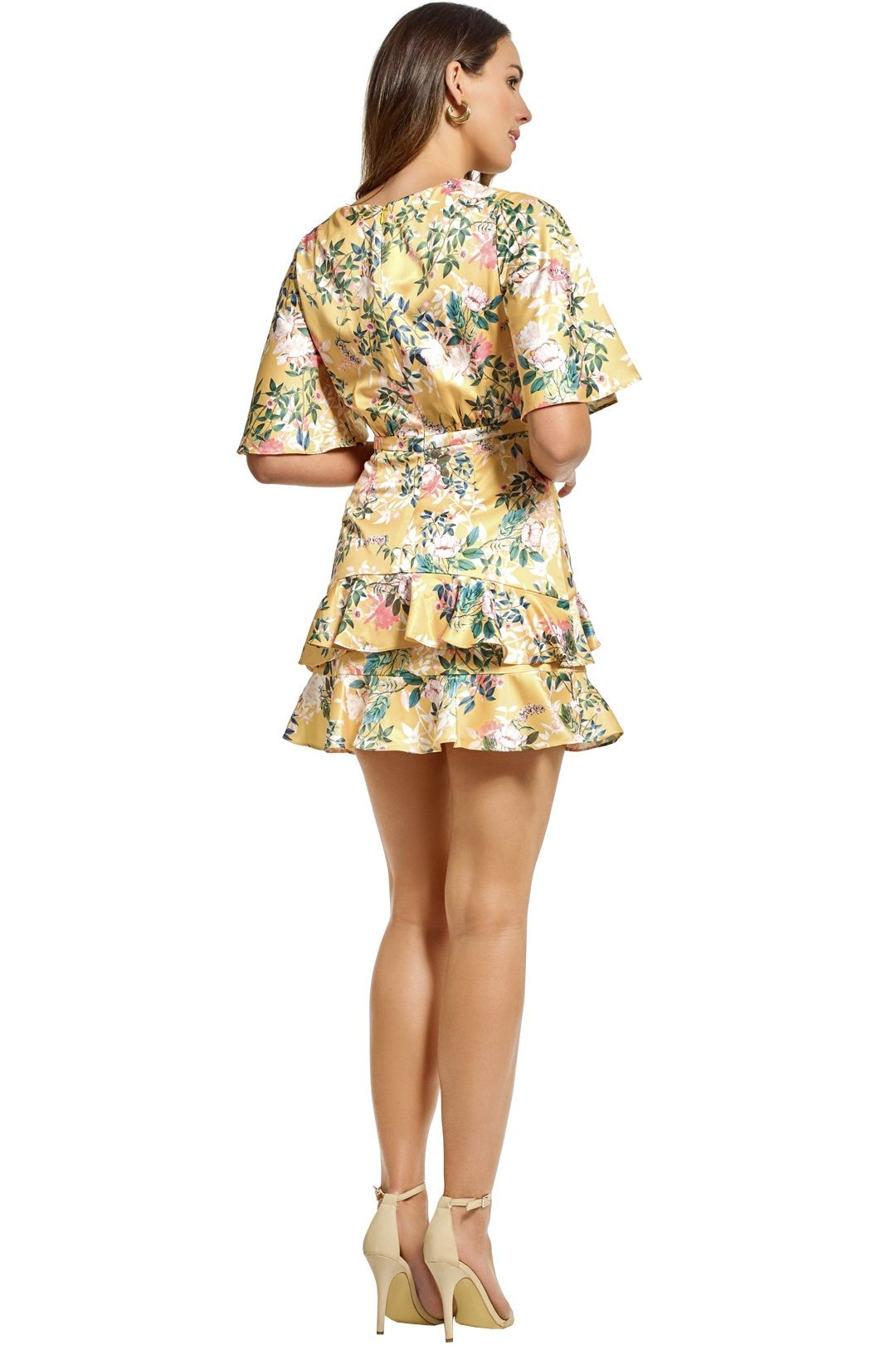 Stylestalker - Isabella A Line Dress - Yellow - Back