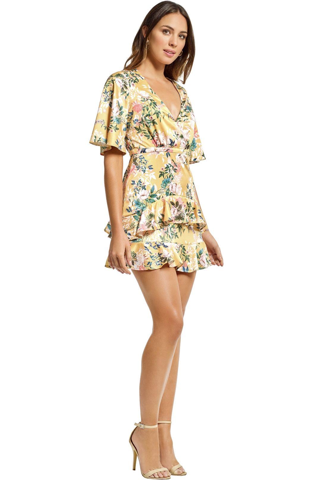 Stylestalker - Isabella A Line Dress - Yellow - Side