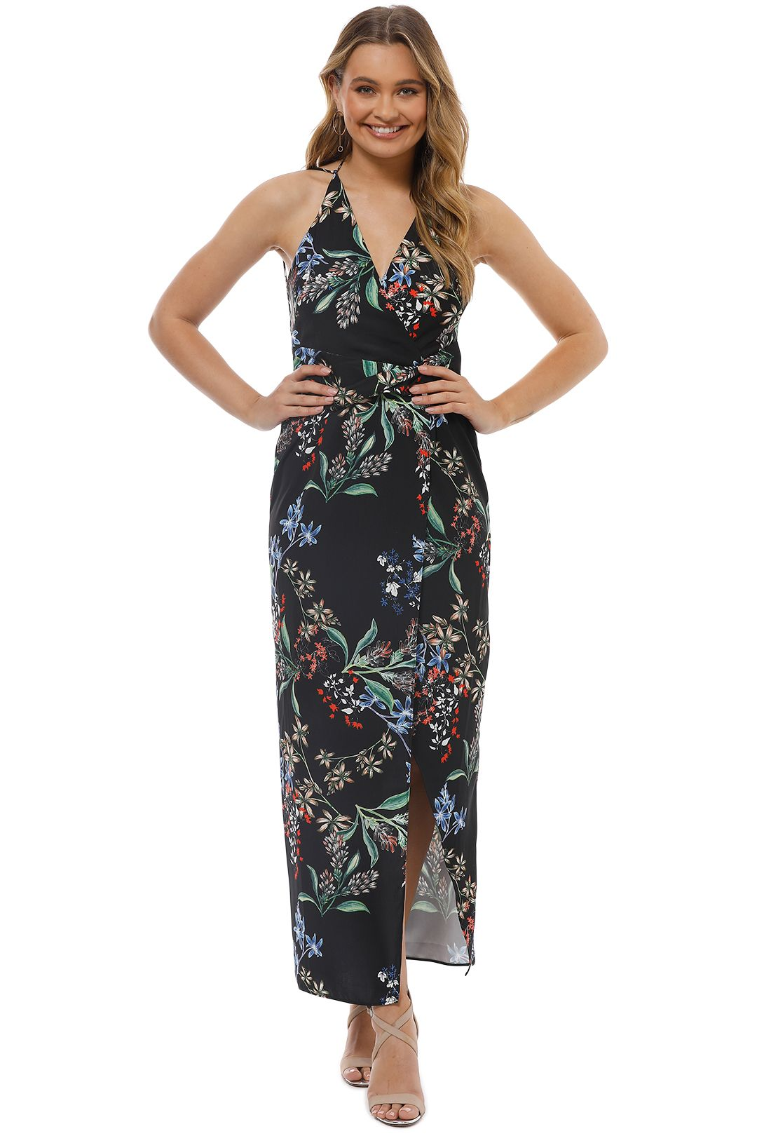 Stylestalker - Avalon Maxi Dress - Black Floral - Front