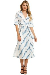Suboo-Estelle-Maxi-Tie-Wrap-Dress-Blue-Dye-Front
