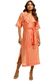 Suboo-Farrah-Wrap-Belted-Dress-Orange-Front
