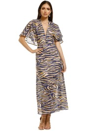 Suboo-Into-The-Wilds-Cape-Dress-Animal-Print-Front