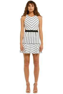 Suboo-Straighty-180-Tie-Back-Mini-Dress-White-Stripes-Front