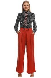 Suboo - Rising Sun Wide Leg Linen Pant - Rust - Front