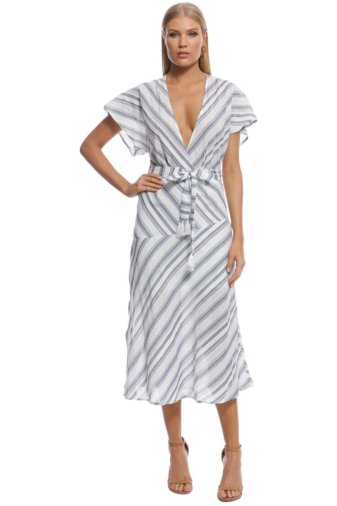 Suboo - Shoreline Midi Dress - Blue White - Front