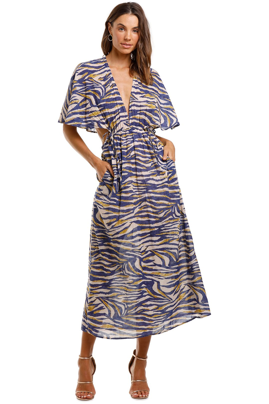 Suboo Into The Wilds Cape Dress Animal Print
