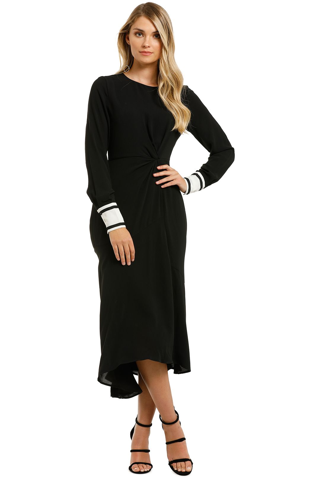 Sure-Thing-Dress-Black-White-Front