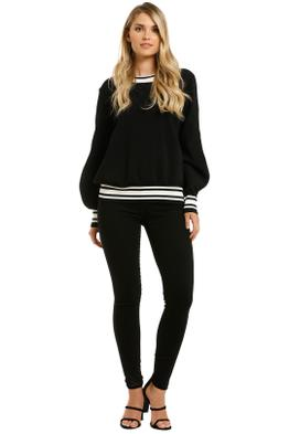 Vestire-Sure-Thing-Sweater-Black-White-Front