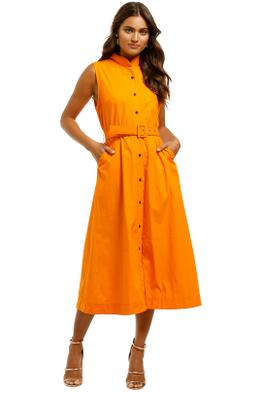 SWF-Orange-Midi-Dress-Orange-Front