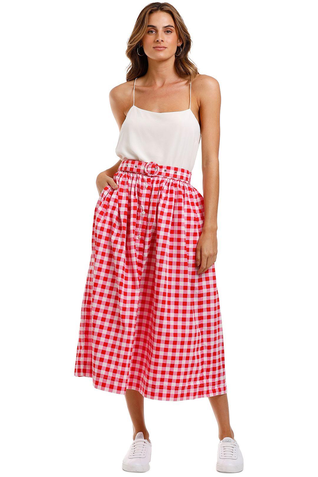 SWF Button Down Midi Skirt