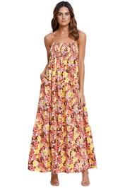 SWF Shirred Maxi Femme Floral