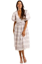 SWF Tie Dress Renaissance Violet Midi Length