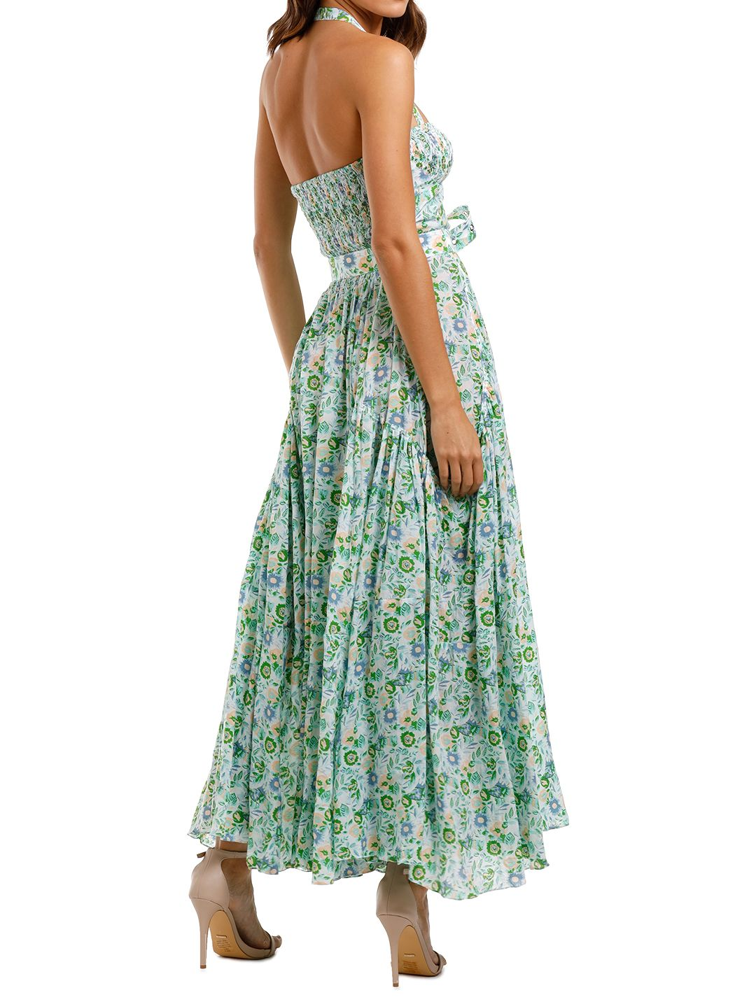 SWF Tier Tie Maxi Floral print dress