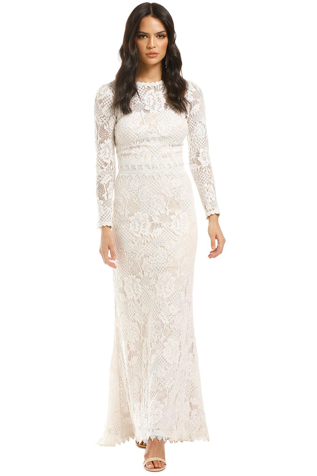 Tadashi-Shoji-LS-Lace-Gown-Ivory-Front